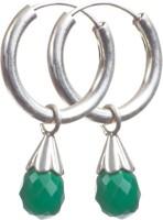 Stylogy Onyx Silver Hoop Earring