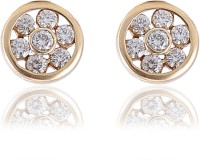 Jisha Yellow Gold 14kt Diamond Stud Earring
