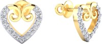Samaira Gem and Jewelery Love Forever Yellow Gold 14kt Swarovski Crystal Stud Earring