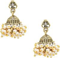 Shining Jewel 24KK Antique Jhumki Pearl Brass Jhumki Earring