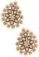 the jewelbox Kundan Drop Large Cubic Zirconia Copper Stud Earring