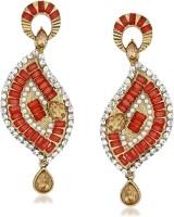 VK Jewels Modern Candle Flame Cubic Zirconia Zinc Drop Earring