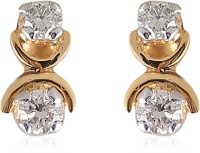 Jisha The Promise Yellow Gold 18kt Diamond Stud Earring