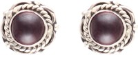 1976 Jewels Garnet Sterling Silver Stud Earring
