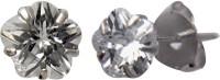 abhooshan Cubic Zirconia Sterling Silver Stud Earring