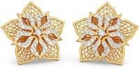 BlueStone Fleur Lattice Yellow Gold 14kt Diamond Stud Earring