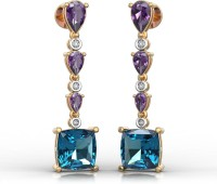 I Love Diamonds Perfect Match Earrings Yellow Gold 18kt Amethyst Chandelier Earring