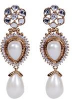 Grand Jewels NSE1003 Cubic Zirconia, Pearl Alloy Drops & Danglers