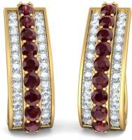 BlueStone The Fashion Finesse Yellow Gold 18kt Diamond Hoop Earring