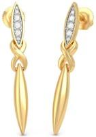 BlueStone Grand Sword Yellow Gold 14kt Diamond Drop Earring