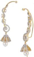 the jewelbox Jhumki Pearl Cubic Zirconia Copper Cuff Earring
