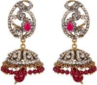 Taj Pearl Ethnic Victorian Brass Jhumki Earring
