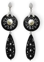 Aastha Jain Asd-2353 Cubic Zirconia, Pearl Sterling Silver Drops & Danglers