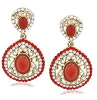 VK Jewels Pleasing Cubic Zirconia Zinc Drop Earring
