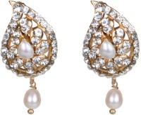 Taj Pearl Beautiful Pearl, Crystal Brass Drops & Danglers