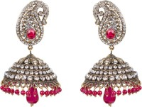 Taj Pearl Traditional Victorian Brass Jhumki Earring