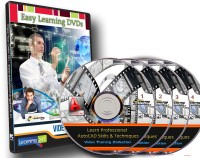 Easylearning Professional AutoCAD Skills & Techniques 30 Courses Video Training on 4 DVDs Pack(DVD)