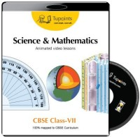 Tupoints CBSE VII Science and Mathematics Animated video lessons(DVD) - Price 2480