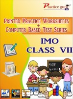 Practice guru Worksheets & Test Series for IMO Class 7(CD)