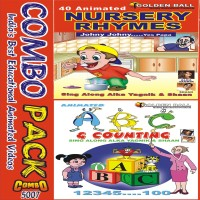 Golden Ball Combo pack (N. Rhymes Johny Johny Yes Papa & ABC Counting)(VCD) - Price 225 10 % Off