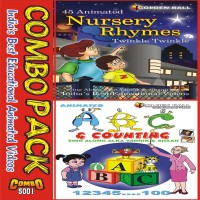 GOLDEN BALL COMBO PACK (ABC + NURSERY RHYMES TWINKLE TWINKLE)(VCD) - PRICE 225 10 % OFF   #EDUCRATSWEB