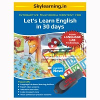 Skylearning.In Lets Learn English in 30 days(Pen Drive)(Let's Learn English in 30 days Pendrive Combo Pack)