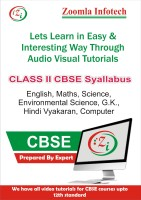 Zoomla Infotech Class 2 CBSE English, Maths, Science, Environmental Science, G.k., Hindi Vyakaran, Computer Video Tutorials(DVD)