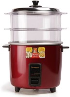Panasonic WA22H(SS) Food Steamer, Rice Cooker(5.4 L, Red)