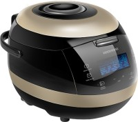 REDMOND RMC-151E, Digital smart multicooker Air Fryer, Rice Cooker, Food Steamer, Slow Cooker, Egg Cooker, Deep Fryer, Egg Boiler(5 L, Black, Gold)