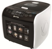 VITEK VT-4209 BW-I Deep Fryer, Food Steamer, Rice Cooker, Slow Cooker, Travel Cooker(5 L, Black & White)