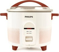 Philips HL1663/00 Electric Rice Cooker(4.4 L, White & pistil red)