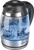 Redmond RK-G151-E Electric Kettle(1.7 L, Clear glass, Black, Blue illumination)