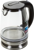Redmond RK-G127-E Electric Kettle(1.7 L, Clear glass, Black, Blue illumination)