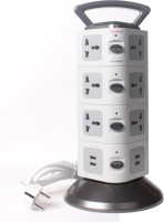 Callmate Essential 12 Socket Surge Protector(Black, Grey)