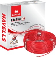 Havells FR PVC, PVC 6 sq/mm Red 90 m Wire(Red)