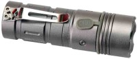 View Blazon 3 Modes waterproof Rechargeable,Zoomable Led Flashlight Torches(Silver) Home Appliances Price Online(Blazon)