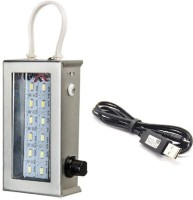 View SGA 18 LED Rechargeable Emergency Lights(Silver) Home Appliances Price Online(SGA)