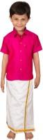 Thangamagan Boys Shirt & Dhoti Set