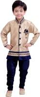 Arshia Fashions Boys Sherwani and Churidar Set