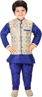 Shree Shubh Boys Kurta, Waistcoat and Breeches Set