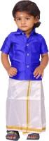 Kaatru Boys Shirt & Dhoti Set