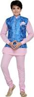 AJ Dezines Boys Kurta, Waistcoat and Pyjama Set