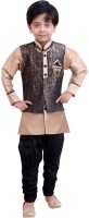 Arshia Fashions Boys Kurta, Waistcoat and Breeches Set