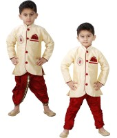JBN Creation Boys Kurta and Dhoti Pant Set