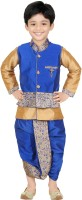 Kute Kids Boys Ethnic Jacket, Kurta and Dhoti Pant Set
