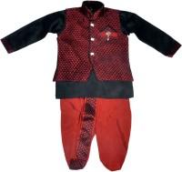 Hey Baby Boys Ethnic Jacket, Kurta and Dhoti Pant Set