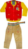 Smilee Boys Shirt, Waistcoat and Pant Set