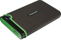 Transcend 1 TB Wired External Hard Disk Drive(Iron Gray, Green)
