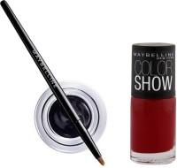 Maybelline Lasting Drama Gel Eye Liner - 2 with Offer 2.5 g(Black - 01)