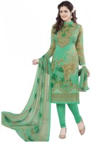 Jevi Prints Synthetic Printed Salwar Suit Dupatta Material(Un-stitched)